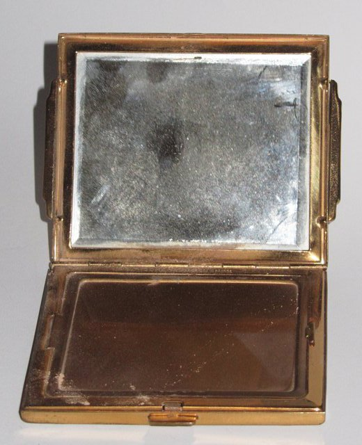 Ancien poudrier art deco corona paris france miroir glace for Miroir paris france