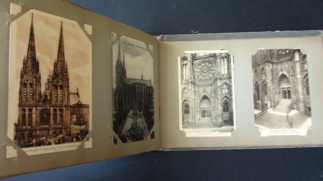 ancien album 103 cartes postales calendrier 1909 cpa beauvais amiens abbeville. Black Bedroom Furniture Sets. Home Design Ideas