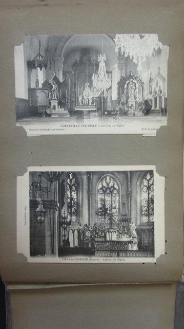 ancien album 103 cartes postales calendrier 1909 cpa. Black Bedroom Furniture Sets. Home Design Ideas