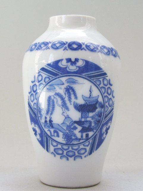 Vase miniature maison poupee d cor chinoiseries en porcelaine de limoges 7 5 - Maison de porcelaine ...