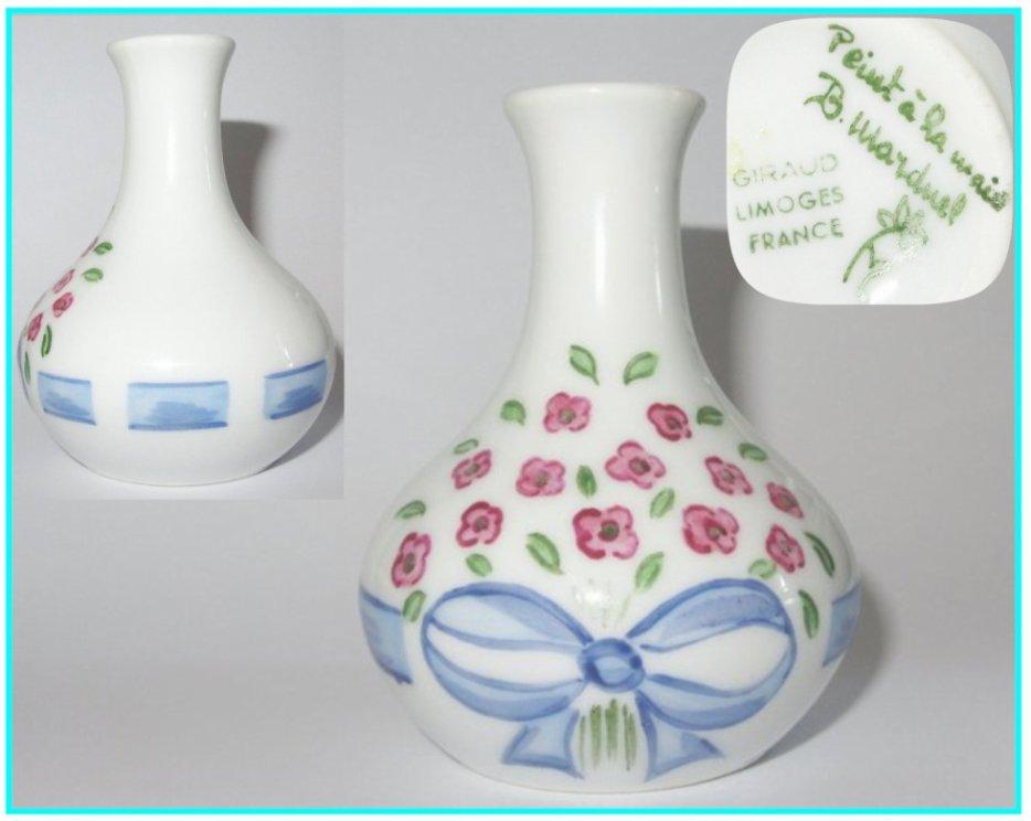 Vase miniature maison poupee d cor peint la main giraud porcelaine de limog - Maison de porcelaine ...